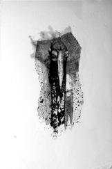 Guardián, 2016, aguagrasa y tinta sobre papel